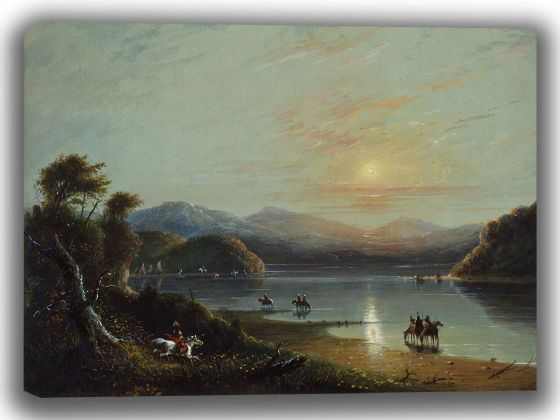 Miller, Alfred Jacob: Green River (Oregon). Fine Art Canvas. Sizes: A4/A3/A2/A1 (003828)